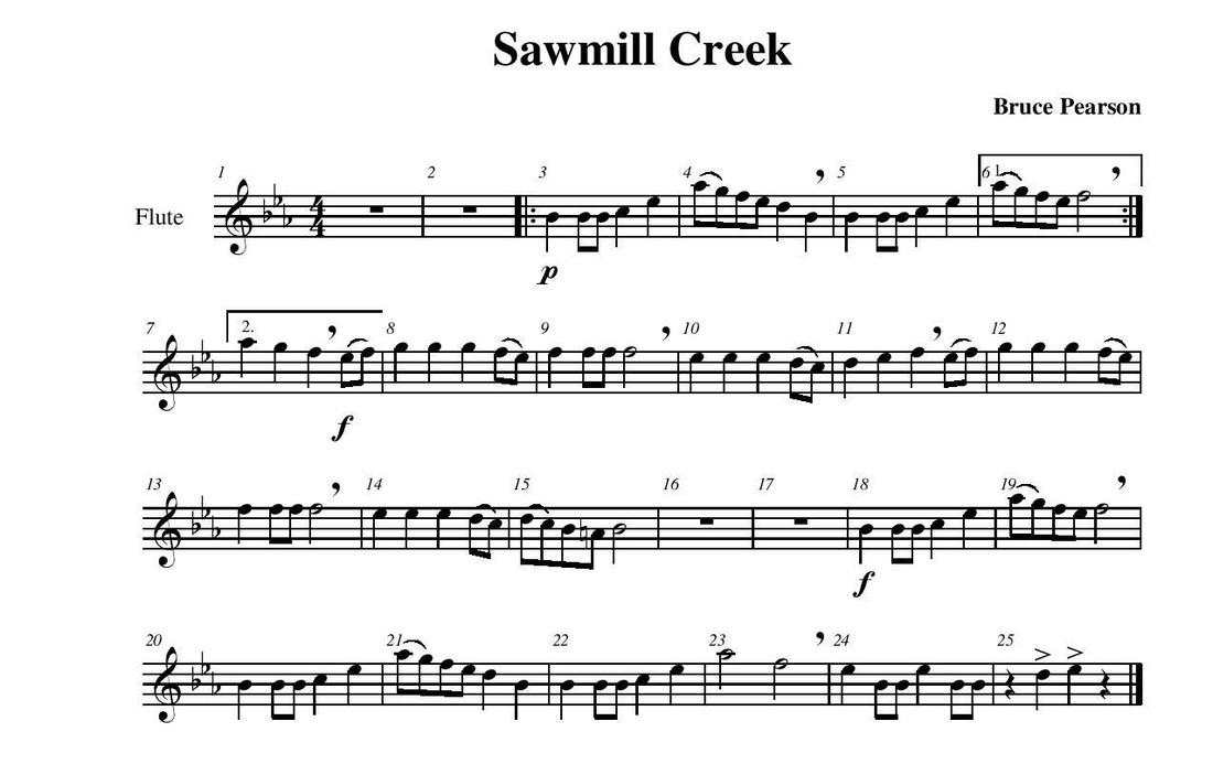 All Music Chords free french horn sheet music : Sawmill Creek - Guy B. Brown Music
